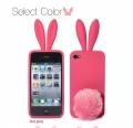 чехол-зайчик Rabito с ушками Розовый для iPhone 6