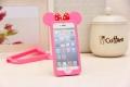 бампер Ушки Микки Ярко розовые для IPhone 6
