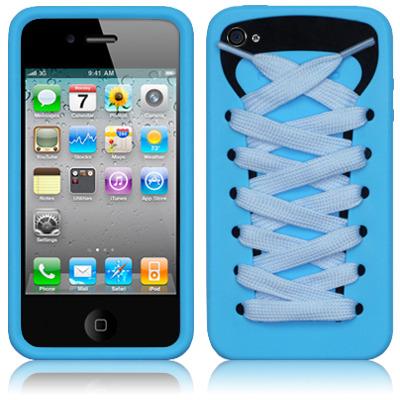 Ishoes чехол кед красовок для Iphone 4 4s  голубой