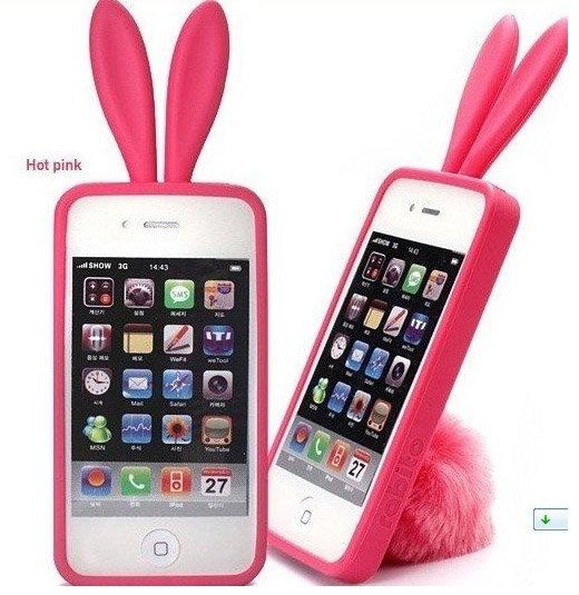 Iphone 4 4s Rabitto Кролик Розовый Hot pink материал:Силикон цена 150грн